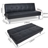 沙發床 小戶型簡易懶人沙發椅子雙人三人咖啡廳PU皮沙發床布藝摺疊式躺椅jj