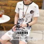 夏季圓領印花T恤男休閒個性短袖運動套裝 js3716『科炫3C』