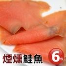 【屏聚美食】嫩切煙燻鮭魚6包組(100g/包)_買2件以上每件↘780元