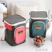 野餐戶外保溫包鋁箔加厚冷藏保冷飯盒袋家用上班車載保溫箱便當包『蜜桃時尚』
