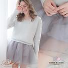 褲裙 素色紗質鬆緊燈籠褲裙-Ruby s 露比午茶