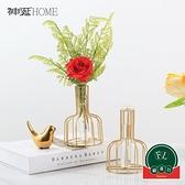 北歐小清新插花花器裝飾品試管玻璃花瓶擺件客廳【福喜行】