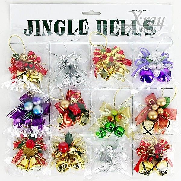 節慶王【X065156】聖誕節鈴鐺鐘串(隨機出貨),聖誕鈴鐺/裝飾/吊飾/交換禮物/會場佈置/鐘串/材料包