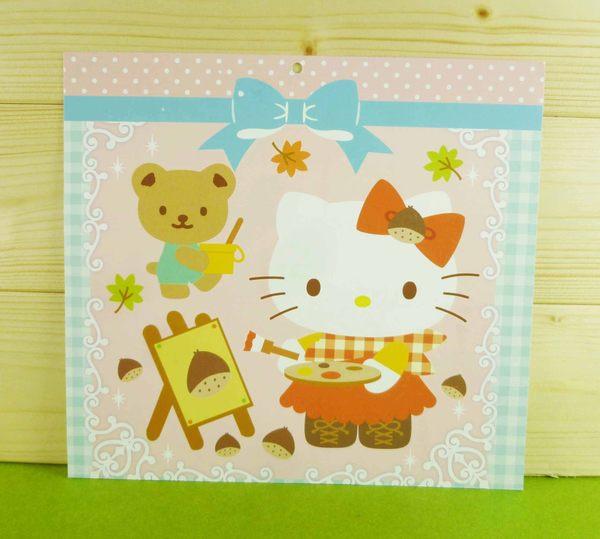 【震撼精品百貨】Hello Kitty 凱蒂貓~雙面卡片-橘畫畫