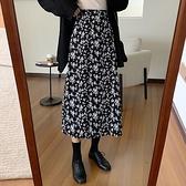 DE shop - 高腰A字碎花半身裙 - D-7180