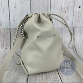 BRAND楓月 SAINT LAURENT YSL 583328 白色 束口 皮革 水桶包 肩背包 側背包
