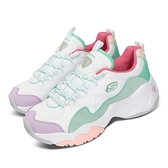 Skechers 休閒鞋 D Lites 3.0-Moon Visions 白 綠 彩色 女鞋 粉紅甜心 粉嫩色系 運動鞋 【ACS】 149105WMNT