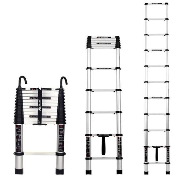 梯子鋁合金伸縮梯摺疊人字梯加厚工程閣樓梯子家用梯升降梯直梯H【快速出貨】
