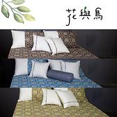 《40支紗》【雙人床包枕套三件式-共3色】花與鳥 100% 精梳棉-LITA麗塔寢飾-