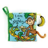 英國JELLYCAT Book 感官刺激布書~我是一隻小猴子