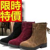真皮短靴-高雅街頭風氣質低跟女靴子6款62d58[巴黎精品]