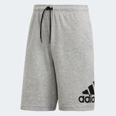 Adidas MH BOS SHORT SJ [DT9948] 男 運動 休閒 慢跑 五分 短褲 舒適 棉質 愛迪達 灰