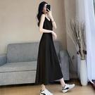 黑色雪紡吊帶裙洋裝女春夏中長款氣質顯瘦內搭打底長裙外穿裙子 設計師