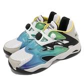 【海外限定】Reebok 休閒鞋 Pump Court 白 灰 藍綠 漸層 充氣 男鞋 運動鞋【ACS】 FX9928