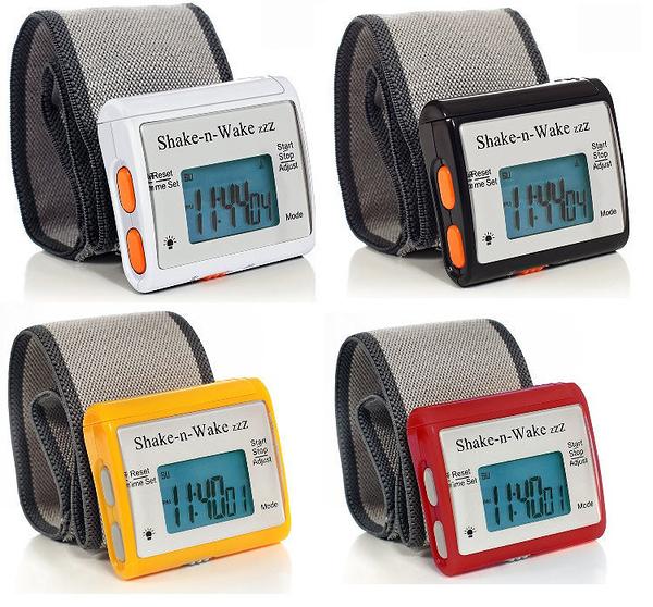 【WowLook】美國進口 Shake-N-Wake Silent Vibrating Alarm Clock 個人震動鬧鐘 隨身腕表型 無聲