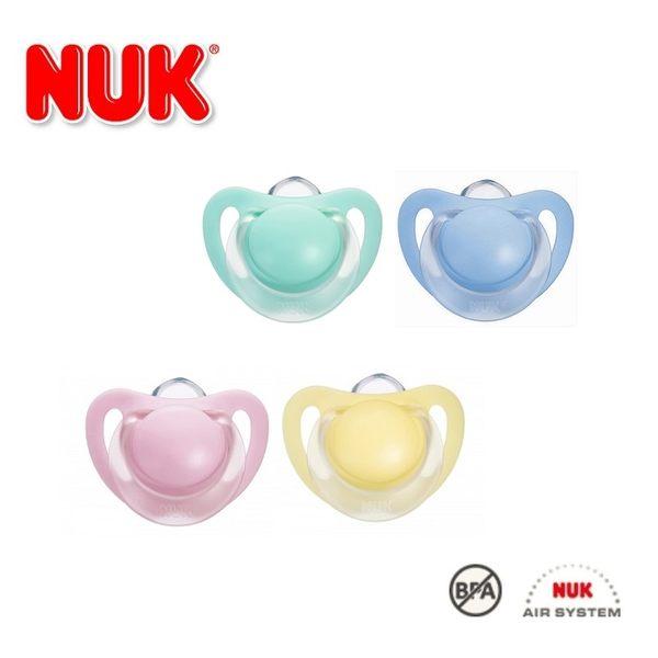 德國【NUK】馬卡龍粉嫩系列0-6M/6-18M矽膠安撫奶嘴2入-德國原裝/德國製造/兩款