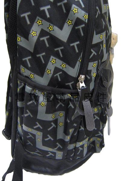 ~雪黛屋~OXFORO 後背包中容量可A4電腦25L超輕防水尼龍布+皮革上學外出上班男女全齡適用HOX065