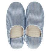 〔apmLife 生活雜貨〕日式和風柔情條紋拖鞋