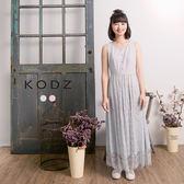 東京著衣【KODZ】酷琪琪聯名小清新蕾絲拼接背心洋裝-女-S.M.L(180800)
