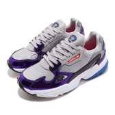 adidas 老爹鞋 Falcon W 灰 紫 女鞋 復古慢跑鞋 【PUMP306】 DB2689
