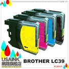 USAINK~Brother  LC39/LC39BK+LC39C+LC39M+LC39Y 相容墨水匣 4色 MFC-J410/MFC-J415/MFC-J415W/J415/J410/J415W LC-39