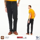 【NST Jeans】撞色車線 卡其車線休閒黑褲 遠紅外線奈米纖維-中腰直筒 398(66663) 台灣製