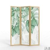 中式屏風 原木隔斷墻客廳實木簡約現代臥室折疊移動辦公室內折屏JY【快速出貨】