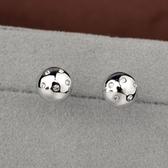 耳環 925純銀鑲鑽-小巧可愛生日情人節禮物女耳針73gt173【時尚巴黎】