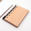 芬多森林|台灣檜木筆記本,A7六孔活頁記...