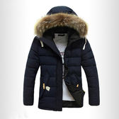 2019冬季毛領男士棉衣 男款韓版修身中長款棉襖 型男個性百搭時尚棉服 男生冬天加厚保暖外套