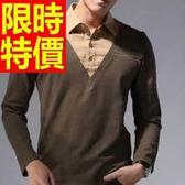 長袖毛衣風靡時尚-時髦羊毛假兩件式男襯衫 1色59ac11[巴黎精品]