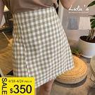 LULUS特價-Y格紋腰鬆緊短裙S-M-2色  【05190007】
