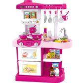 兒童做飯玩具套裝女孩小孩過家家寶寶廚房炒菜可煮飯仿真廚具男孩