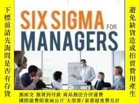 二手書博民逛書店Six罕見Sigma For ManagersY364682 Greg Brue Mcgraw-hill 出