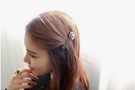 髮夾 現貨 韓國熱賣 小香風 經典 山茶花 玫瑰 髮夾(2色) S7246 批發價 Danica 韓系飾品 韓國連線