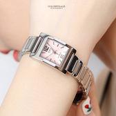 CASIO卡西歐 小資女粉色方框時尚腕錶 女孩石英手錶【NEC87】原廠公司貨