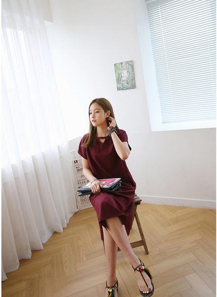 *魔法之城*P32204夏裝新款韓版T恤連衣裙洋裝