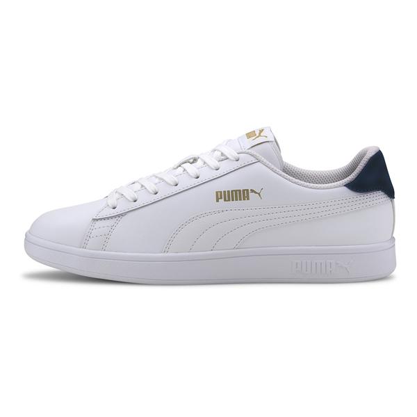 PUMA Smash v2 男鞋 女鞋 休閒 基本款 復古 皮革 白【運動世界】36521535