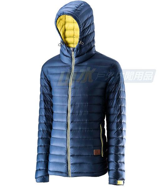 【山水網路商城】荒野 WILDLAND 男款 700FP連帽輕羽絨衣/輕羽絨/羽絨衣 0A22112 深灰藍