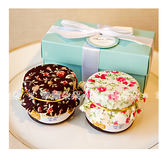 Double Love Tiffany盒「鄉村風布帽蜂蜜二入」禮盒.結婚婚禮小物.工商.禮贈品.來店禮.幸福朵朵