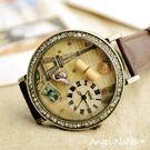 AngelNaNa 韓國MINI正品 童話‧手工立體粉雕軟陶錶女手錶.畢業 耶誕‧情人節禮物-巴黎鐵塔(SWA0080)