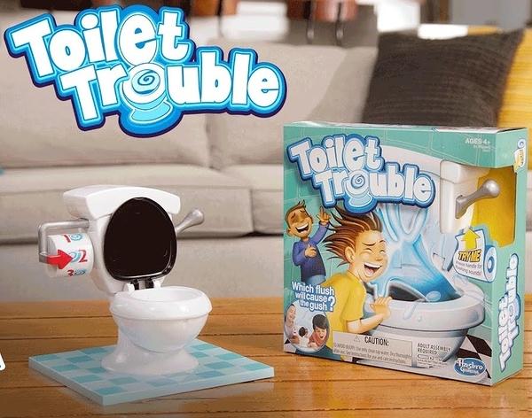 聚會必備 瘋狂 馬桶 噴水 桌遊 整人遊戲 Toilet Trouble