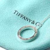 Tiffany&Co.正品 全新Tiffany1837 經典系列 簡約刻字圓環純銀項鍊