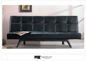 【MK億騰傢俱】CS713-01巴克黑色皮面沙發床