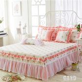 床套荷葉邊床罩床裙單件蕾絲床罩床裙紗純棉全包防塵罩xy3172【優品良鋪】