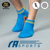 瑪榭 條紋運動1/2襪21551-黑/藍/綠/丈(L)【愛買】