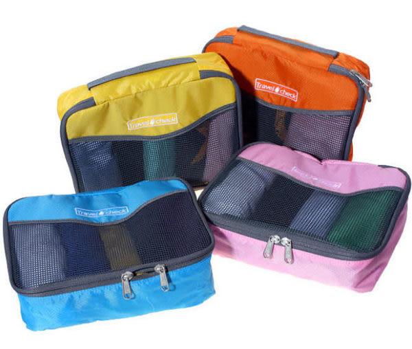 《J 精選》清新俏麗手提透氣網格收納袋/衣物整理袋(小)