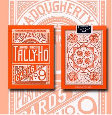 TALLY-HO ORANGE ROSE 反橘扇背 撲克牌