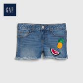 Gap 女童 可撥動亮片牛仔短褲 539987-閃亮心形裝飾