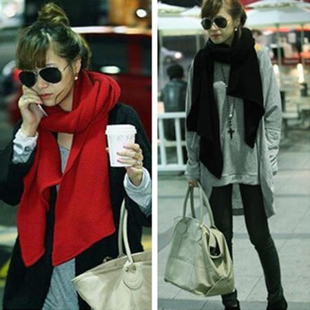 ※現貨 素色針織圍巾披肩-3色【Q1424061】